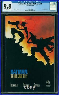 Batman The Dark Knight Returns #4 CGC 9.8 DC 1986 Frank Miller! WP! L9 214 cm