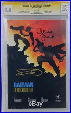 Batman The Dark Knight Returns #4 CGC 9.8 SS Signed FRANK MILLER & KLAUS JANSON