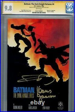 Batman The Dark Knight Returns 4 CGC 9.8 SS X2 1st print Miller Janson Superman