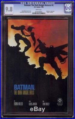Batman The Dark Knight Returns # 4 CGC 9.8 White (DC, 1986) Death of Alfred