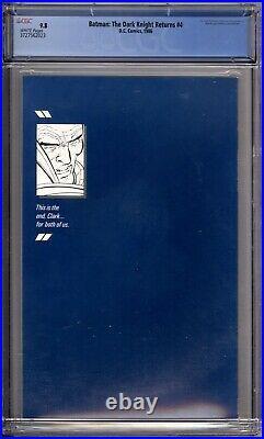 Batman The Dark Knight Returns 4 CGC Graded 9.8 NM/MT DC Comics 1986