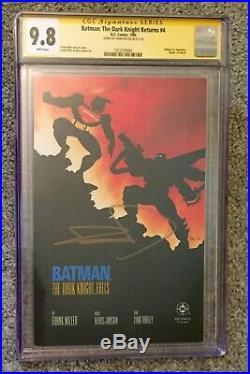 Batman The Dark Knight Returns #4, CGC SS 9.8 Frank Miller Vs. Superman Bat Armor