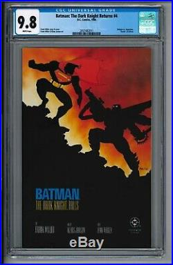 Batman The Dark Knight Returns 4 Cgc 9.8 Nm/mt White Pages Key Death Alfred 1986