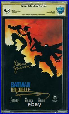 Batman The Dark Knight Returns 4 Cgc 9.8 Wp Signed Frank Miller Klaus Janson 1