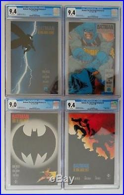 Batman The Dark Knight Returns (CGC Set White Pages) #s 1-4 + Trade Paperback