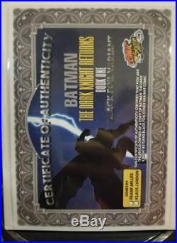 Batman The Dark Knight Returns Foil Variant NYCC SIGNED BY FRANK MILLER