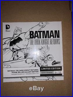 Batman The Dark Knight Returns Limited Signed and Numbered Gallery Edition (NEW)