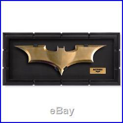 Batman The Dark Knight movie BATARANG cosplay metal Prop Replica with Display