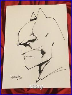 Batman The Dark Knightoriginal Sketch Art By Scott Williamsinker For Jim Lee