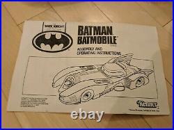 Batmobile 1990 The Dark Knight Collection Kenner 1989 Michael Keaton Tim Burton
