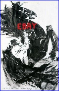 Bill Sienkiewicz Batman Dark Knight The Master Race original atwork cover comic