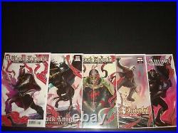 Black Knight Curse of the Ebony Blade 1-5 Complete Hans Variant Set Lot Marvel
