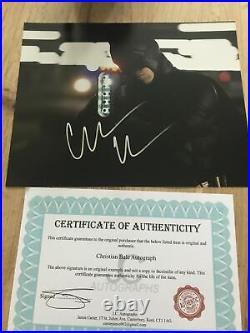 Christian BALE Signed Autograph 10x8 Photo AFTAL COA BATMAN The Dark Knight