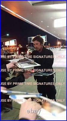 Christian Bale 11x14 Signed Photo The Dark Knight Batman Autograph Beckett Coa U