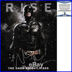 Christian Bale Signed 11x14 Photo The Dark Knight Rises Batman Beckett BAS COA