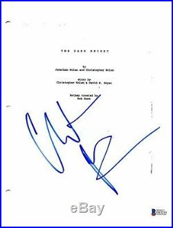 Christian Bale Signed Autographed The Dark Knight'batman' Movie Script Bas Coa