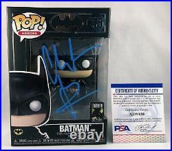 Christian Bale Signed Funko Pop Batman The Dark Knight PSA/DNA 6 COA