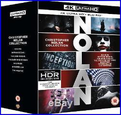 Christopher Nolan 7 Film Collection 4K Blu-ray The Prestige, Dark Knight Trilogy