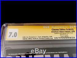 Cinema editor v58 #2 CGC SS 7.0 Autographed Christian Bale The Dark Knight Rare