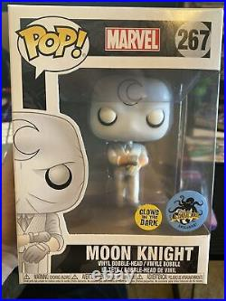 Comikaze 2017 LACC Funko Pop Moon Knight Glow in the Dark #267 with protector