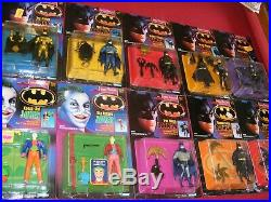 Complete set OF 10 Kenner The Dark Knight Collection figures 1990
