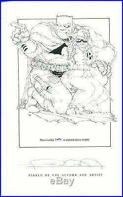 DC BATMAN THE DARK KNIGHT BY FRANK MILLER 1986 HC 1st ED. SIGNED NUMBERED R2362