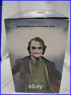 DC Comics The JOKER DARK KNIGHT BATMAN STATUE Heath Ledger MIB! Rises BATMAN