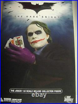 DC DIRECT THE JOKER fROM DARK KNIGHT 16 SCALE DELUXE COLLECTOR FIGURE BATMAN