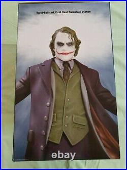 DC Direct The Dark Knight JOKER Heath Ledger Statue by Kolby Jukes