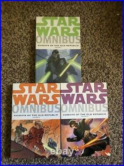Dark Horse Star Wars Knights of the Old Republic Omnibus Vol. 1 2 3 TPB M/NM