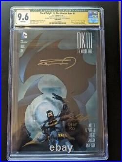Dark Knight III The Master Race #1 CGC 9.6 Signed by Frank Miller And Neal Adams