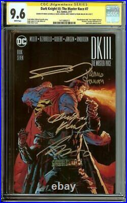 Dark Knight III The Master Race #7 Cgc 9.8 Quad Signed Miller + 3 Others