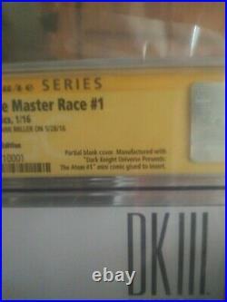 Dark Knight III the master cgc 9.8 FRANK MILLER ART SKETCH