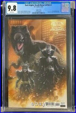 Dark Night Death Metal Legends Of The Dark Knights 1 125 Variant Cgc 9.8