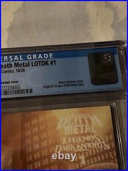 Dark Nights Death Metal Legends of the Dark Knight #1 Variant CGC 9.8 125