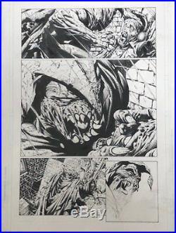 David Finch Original Art Page- Batman The Dark Knight #5 (scarecrow Page)