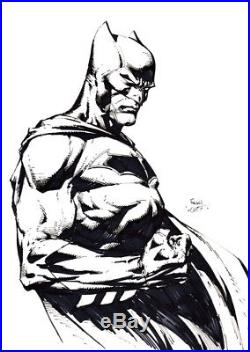 David Finch Signed Original Batman DC Comic Art Sketch The Dark Knight
