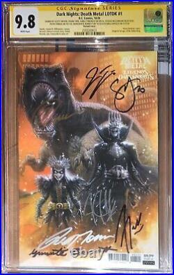 Death Metal Legend Of The Dark Knights(125) 1st Robin King CGC SS 9.8 Sig xs 7