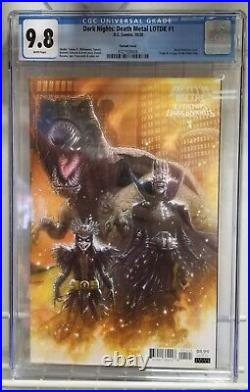 Death Metal Legends Of The Dark Knight #1 125 Variant 1st Robin King Cgc 9.8