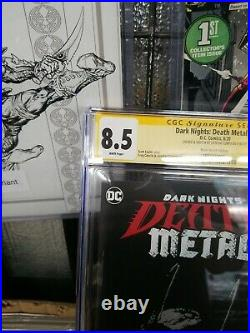 Death Metal Legends Of The Dark Knights1 CGC SS 8.5 sketch by Latique Curry
