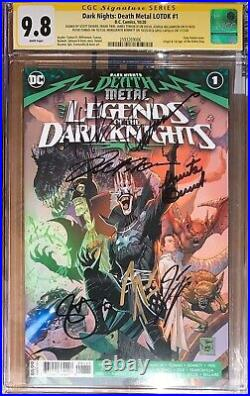 Death Metal Legends Of The Dark Knights 1 (1st Robin King) CGC SS 9.8 Sig xs 7