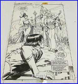 Dick Giordano Original Comic Art Batman Dark Knight of The Round Table Splash