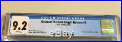 FRANK MILLER 1986 1st Print BATMAN THE DARK KNIGHT RETURNS #1 CGC 9.2 DC COMIC