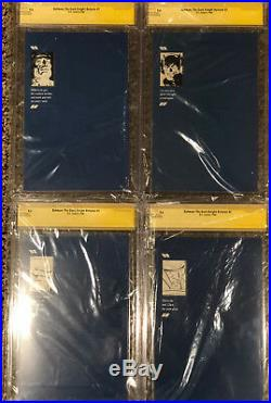 FRANK MILLER 4 BOOK SET SIGNED Batman The Dark Knight Returns 1 2 3 4 CGC 9.6 SS