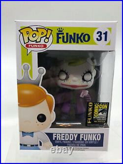 FUNKO FREDDY THE DARK KNIGHT JOKER pop vinyl #31 SDCC 2014 LE /96 EXCLUSIVE
