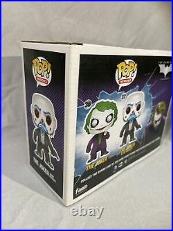 FUNKO POP! 2 Pack- The Dark Knight JOKER Gemini GITD Glows in the Dark Clown