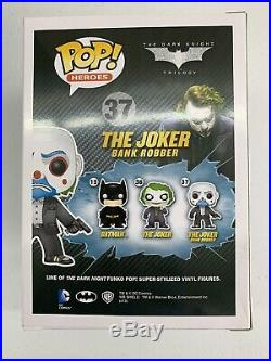 Funko #37 The Joker (Bank Robber) from The Dark Knight NIB DAMAGED BOX