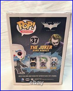 Funko POP! Dark Knight The Joker (Bank Robber) #37 Vaulted Grail Damaged + Stack