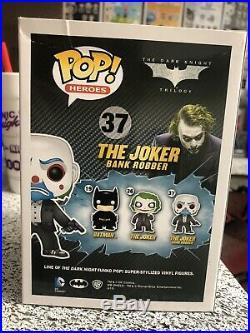 Funko POP! The Dark Knight Bank Robber Joker # 37 Rare (Damaged Box)