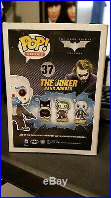 Funko POP! The Dark Knight Bank Robber Joker # 37 Rare (Damaged Box) See Pics